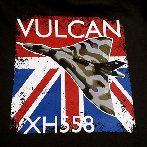 Screen printing a photographic image for the Vulcan XH558