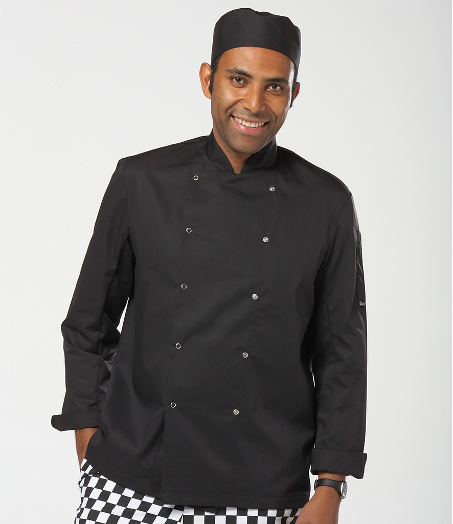 Dennys Long Sleeve Press Stud Chef's Jacket