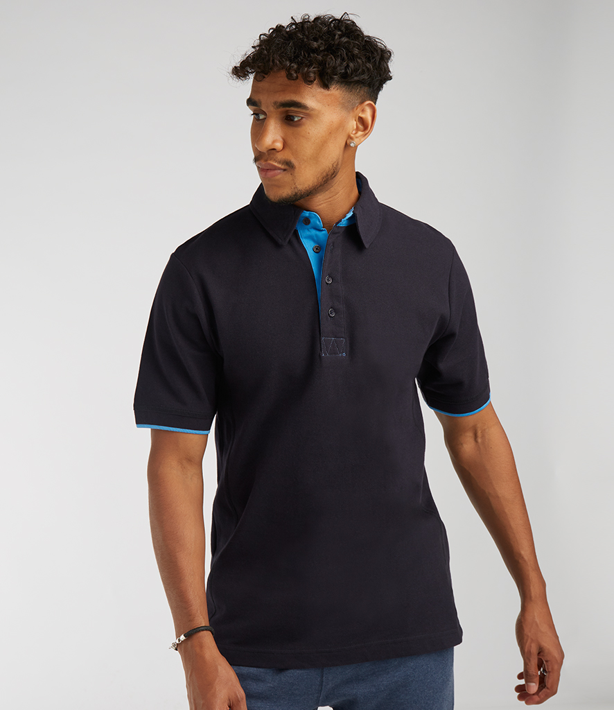 Front Row Contrast Cotton Piqué Polo Shirt