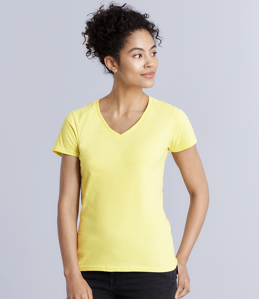 Gildan Ladies Premium Cotton® V Neck T-Shirt