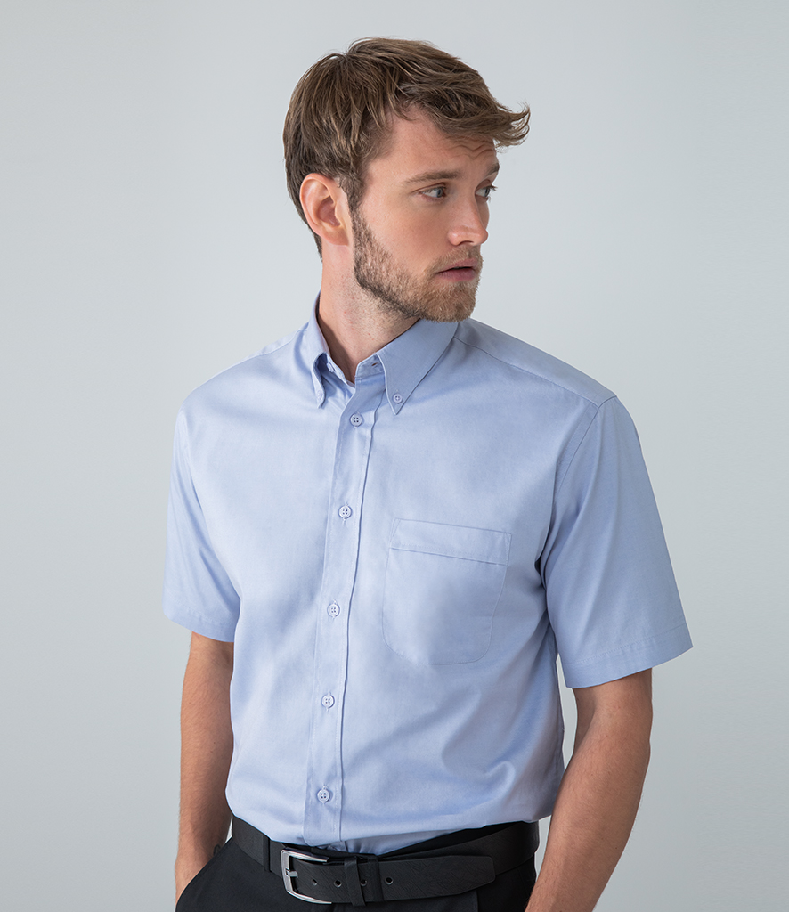 Henbury Short Sleeve Oxford Shirt