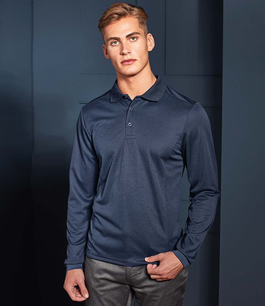 Premier Long Sleeve Coolchecker® Piqué Polo Shirt