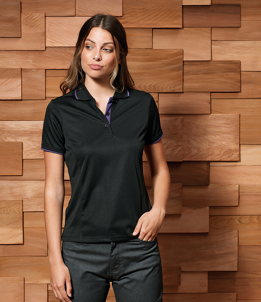 Premier Ladies Contrast Coolchecker® Polo Shirt