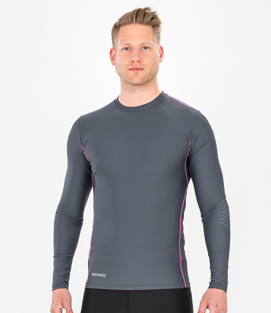 Spiro Compression Body Fit Long Sleeve Base Layer
