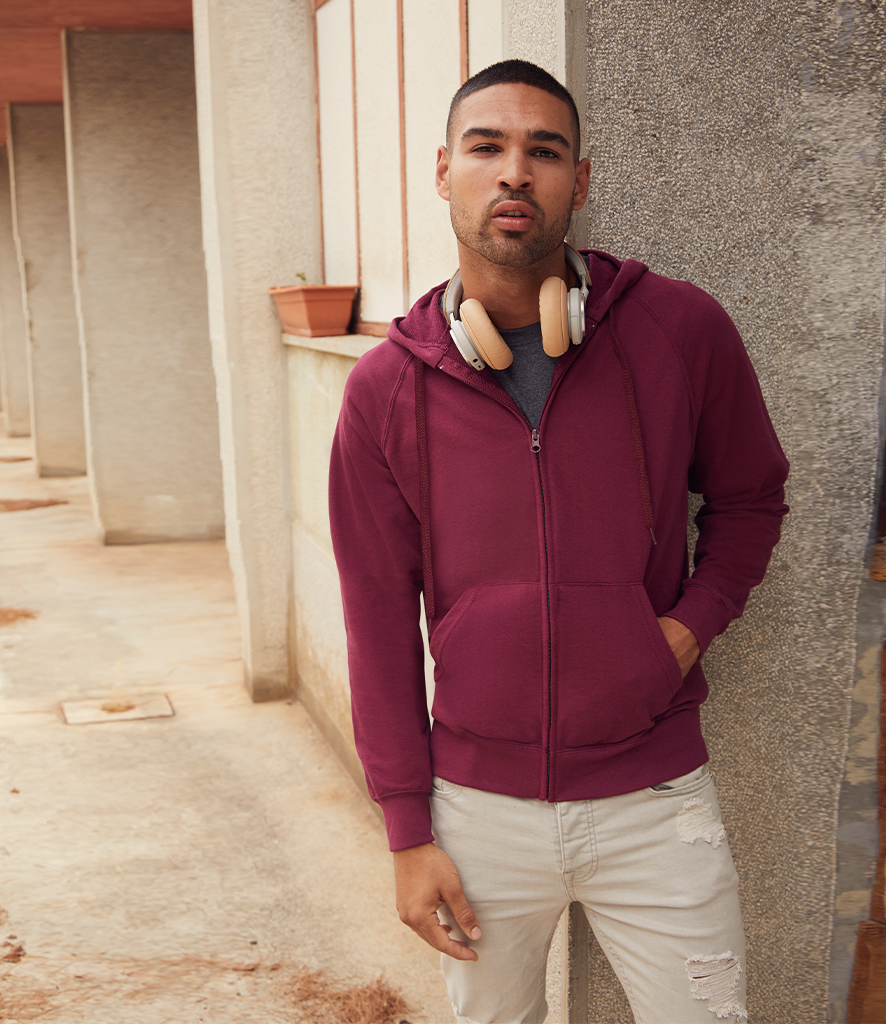 Fruit of the Loom Lightweight Zip Hooded Sweatshirt