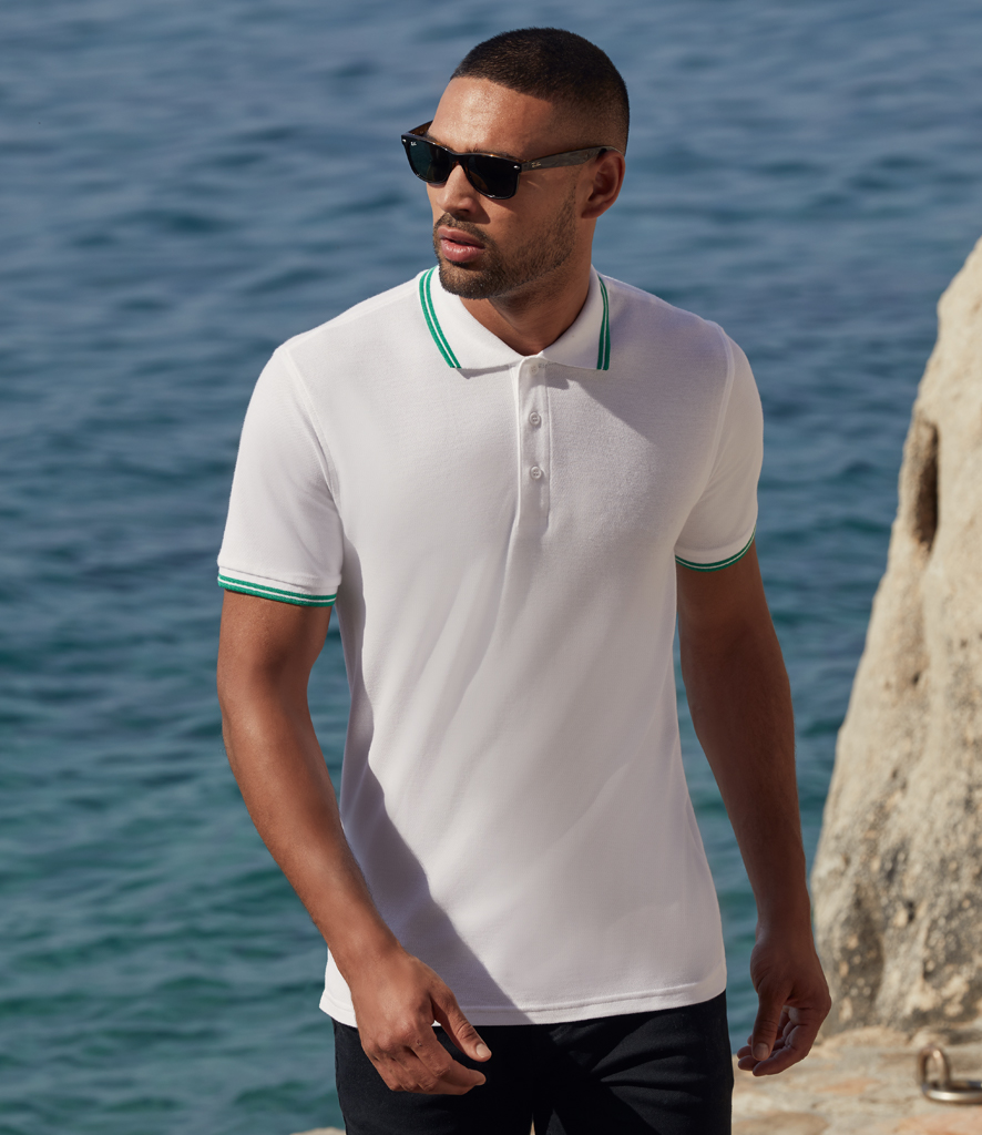 Fruit of the Loom Premium Tipped Cotton Piqué Polo Shirt
