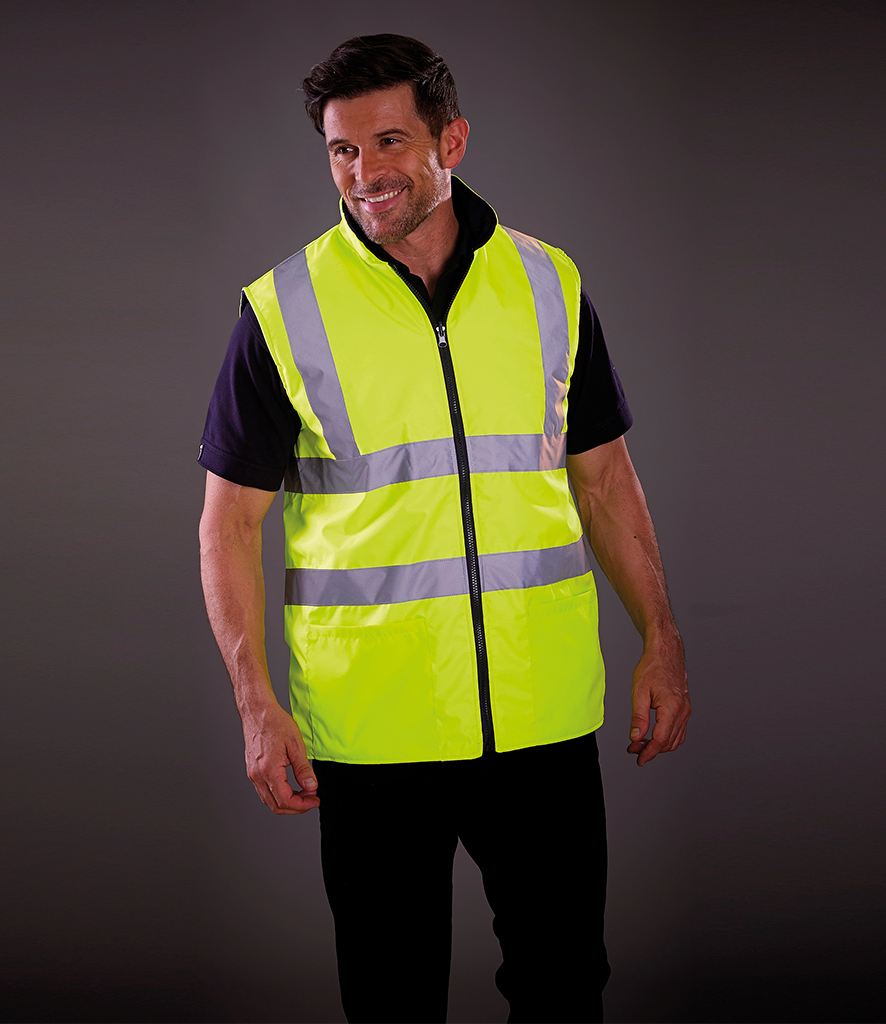 Yoko Hi-Vis Reversible Fleece Bodywarmer