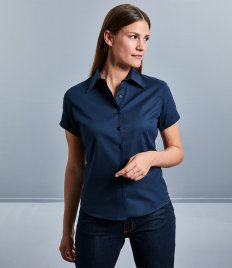 Russell Collection Ladies Short Sleeve Classic Twill Shirt
