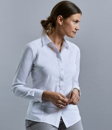 Russell Collection Ladies Long Sleeve Tailored Coolmax® Shirt