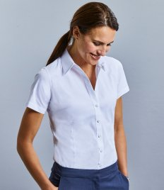 Russell Collection Ladies Short Sleeve Tailored Coolmax® Shirt