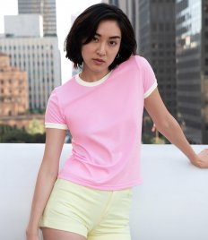 American Apparel Ladies Poly/Cotton Ringer T-Shirt
