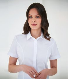 Brook Taverner Ladies Soave Short Sleeve Poplin Shirt