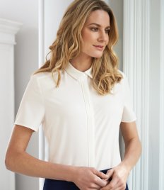 Brook Taverner Ladies Siena Short Sleeve Blouse