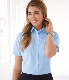Brook Taverner Ladies One Eos Short Sleeve Poplin Shirt