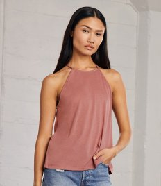 Bella Ladies Flowy High Neck Tank Top