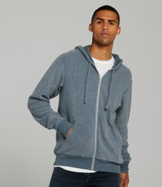 Canvas Unisex Sueded Full Zip Hoodie