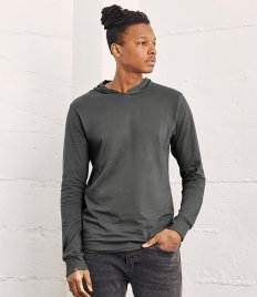 Canvas Unisex Long Sleeve Jersey Hooded T-Shirt