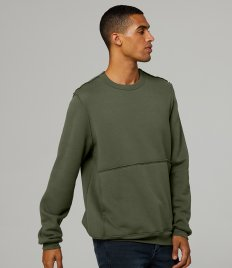 Canvas Unisex Raw Seam Crew Neck Pullover