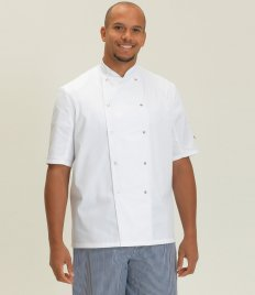 Dennys Short Sleeve Press Stud Chef