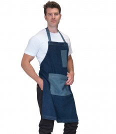 Dennys Heavyweight Denim Pocket Bib Apron