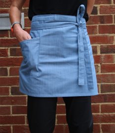 Dennys Cross Dyed Denim Waist Apron with Pocket