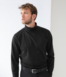 Henbury Long Sleeve Roll Neck Top