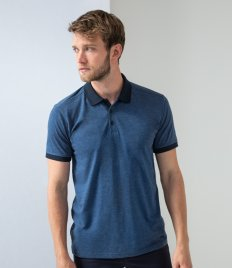Henbury Contrast Tri-Blend Jersey Polo Shirt