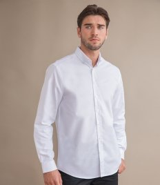 Henbury Modern Long Sleeve Classic Fit Oxford Shirt