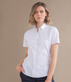 Henbury Ladies Modern Short Sleeve Regular Fit Oxford Shirt