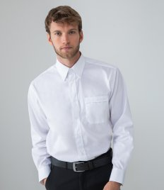 Henbury Long Sleeve Pinpoint Oxford Shirt