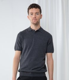 Henbury Knitted Short Sleeve Polo Shirt