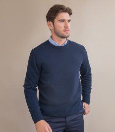 Henbury Lambswool Crew Neck Sweater