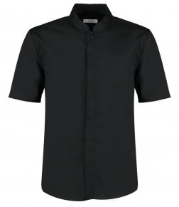 Kustom Kit Bargear® Short Sleeve Mandarin Collar Shirt