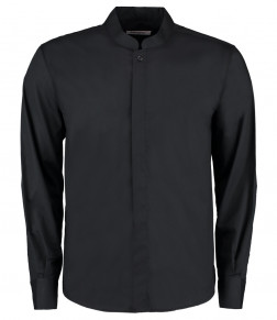 Kustom Kit Bargear® Long Sleeve Mandarin Collar Shirt