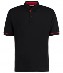 Kustom Kit Button Down Collar Contrast Piqué Polo Shirt
