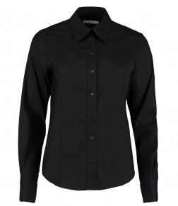 Kustom Kit Ladies Long Sleeve Corporate Oxford Shirt