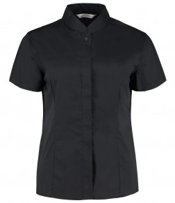 Bargear® Ladies Short Sleeve Tailored Mandarin Collar Shirt