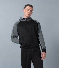 Finden and Hales Panelled Sports Hoodie