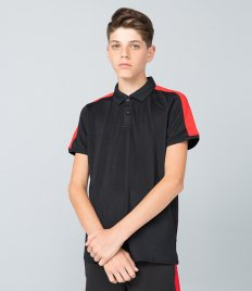 Finden and Hales Kids Contrast Panel Piqué Polo Shirt