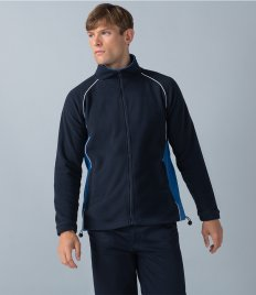 Finden & Hales Contrast Micro Fleece Jacket