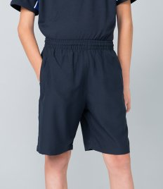 Finden and Hales Kids Plain Microfibre Shorts