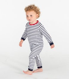 Larkwood Baby Long Sleeve Striped Bodysuit