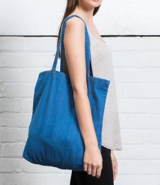 Mantis Denim Tote Bag