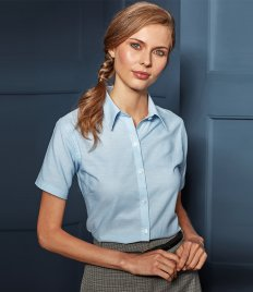 Premier Ladies Signature Short Sleeve Oxford Shirt