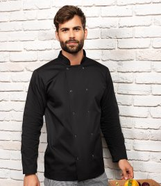 Premier Unisex Long Sleeve Stud Front Chef