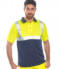 Portwest Hi-Vis Two Tone Polo Shirt