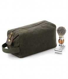 Quadra Heritage Waxed Canvas Wash Bag
