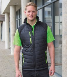 Result Black Compass Padded Soft Shell Gilet