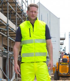 Result Safe-Guard Reversible Soft Padded Gilet