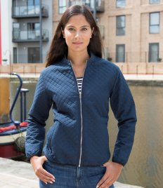 Result Urban Ladies Phantom Soft Shell Bomber Jacket